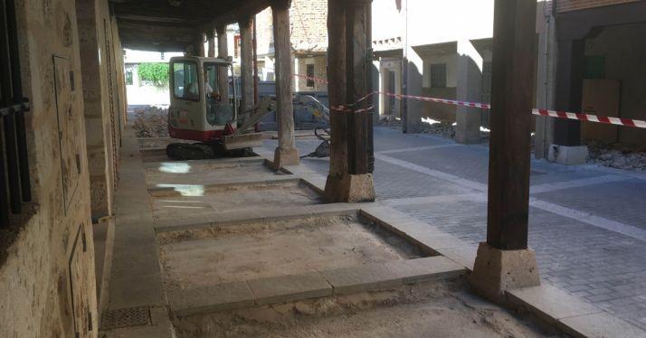 Obras en la calle Rubio Montiel.