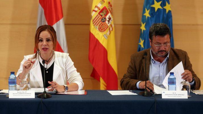 Silvia Clemente y Joaquín Alcalde. /CCyL