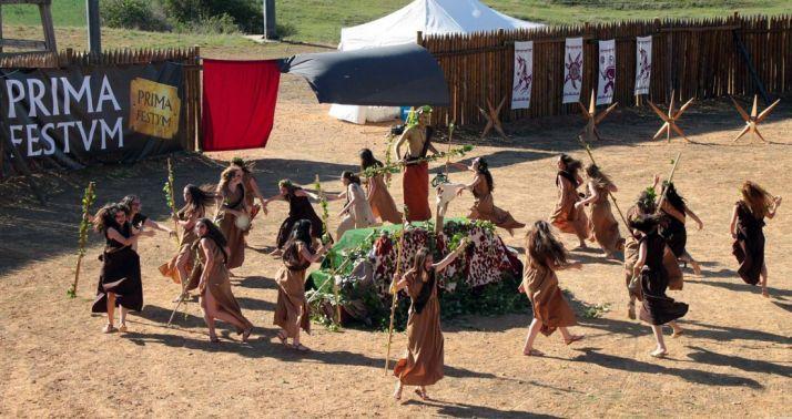 Una de las escenificaciones del festival./Tierraquemada