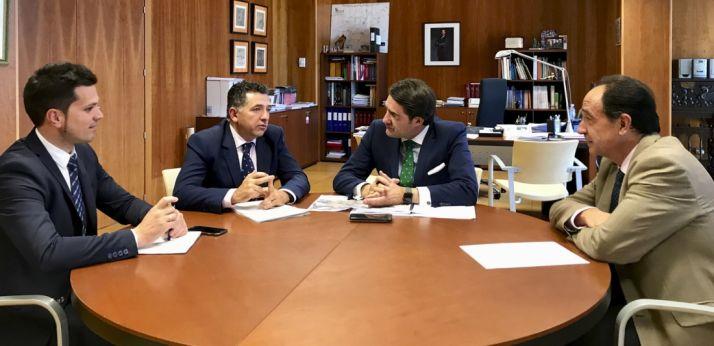Reunión en la sede de la Delegación regional en Soria ayer.