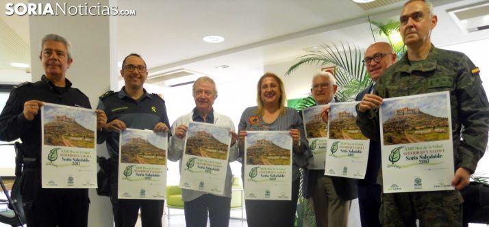 De izquierda a derecha, Carlos Carazo, Andrés Velarde, Rafael de la Rosa, Yolanda de Gregorio, Juan Manuel Ruiz Liso, Domingo Barca y Mauro Velasco./SN