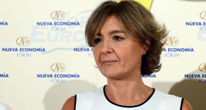 La ministra, este miércoles en Madrid.