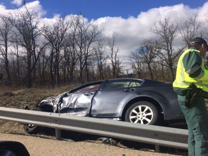 Accidente en una carretera de la provincia de Soria.