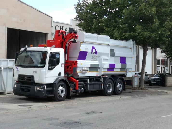 El servicio de recogida de residuos de la Diputación de Soria amplía su flota de vehículos