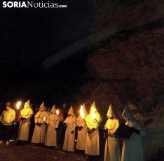 Una de las imágenes de la noche en Ágreda./SN