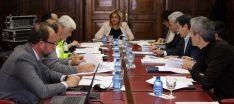 Comisión de Seguridad Vial este lunes en la sede de la Subdelegación.