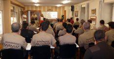 Profesionales de Guarderío en un curso de formación.