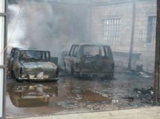 Arde una cochera en Navaleno