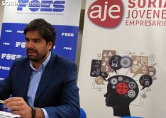 Jesus Mateo, presidente de AJE Soria este jueves. /SN
