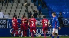 El Numancia puso el empate (1-1) en el marcador.
