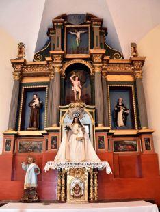 Imagen del retablo ya restaurado.