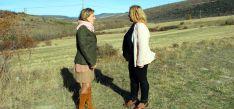 Salgueiro y De Gregorio este jueves en los terrenos donde se ubicará la presa.