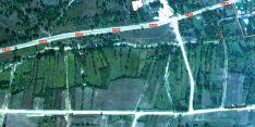 Vista aérea de parcelas cercanas al núcleo de Villaverde. /GM