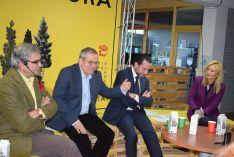 Los ponentes José Antonio Herce, Alain Cuenca, Juan Luis Sendín y Blanca García