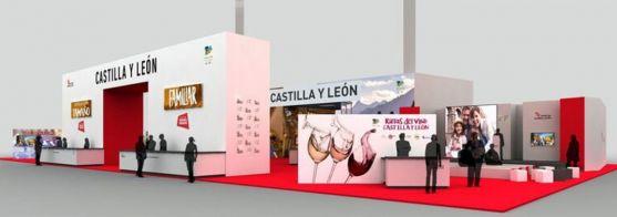 El stand de Castilla y León para la feria.