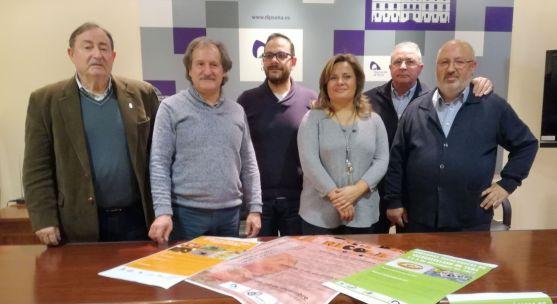 Corredor, (izda.), García, Vega, Pérez, Soria y Martínez en la presentación de las jornadas.