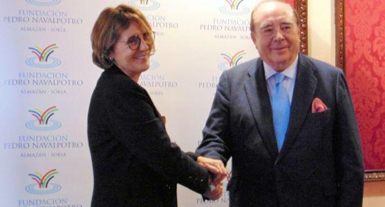 Pedro Navalpotro y Rocío Gutiérrez este viernes./FPN