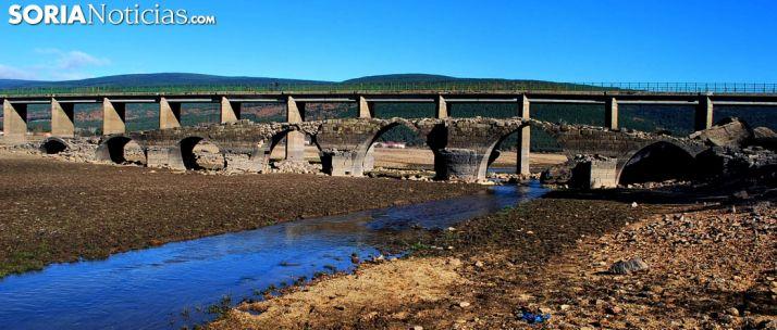 Una imagen del pantano este fin de semana./SN