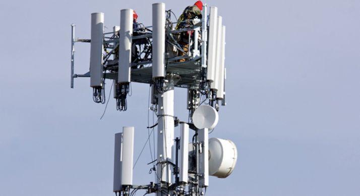 Una antena de telefonía móvil.