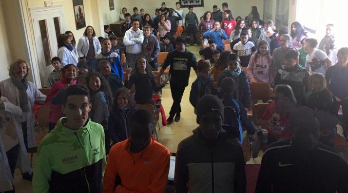 Una imagen de la charla en el colegio.