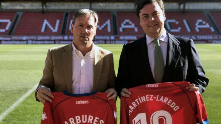 Rubio (izda.) y Martínez-Laredo este miércoles en Los Pajaritos. /CDN