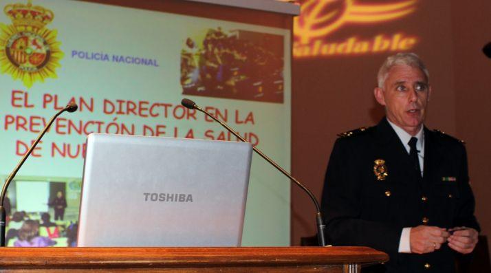 El inspector durante la ponencia.
