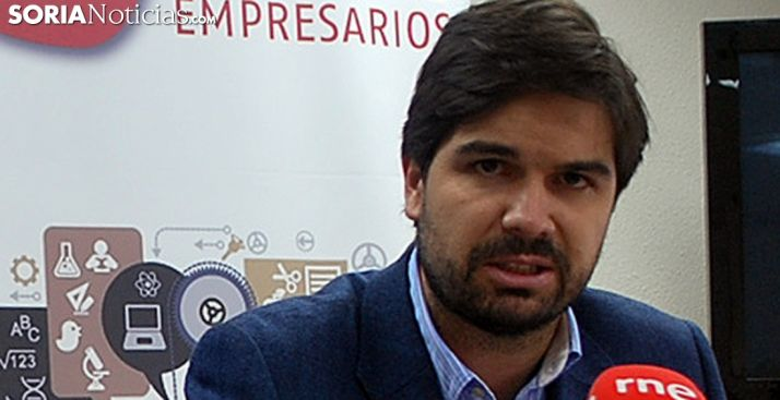 Jesús Mateo, presidente de AJE Soria. /SN