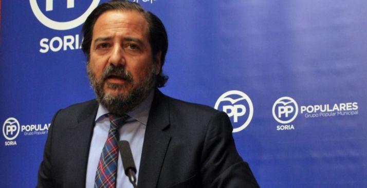 José Manuel Hernando, concejal del PP en el Ayuntamiento de Soria. /SN