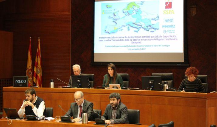Foto 1 - La SSPA solicita a las Cortes aragonesas cambios legislativos y más coordinación contra la despoblación