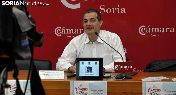 Alberto Santamaría este viernes en la Cámara. /SN