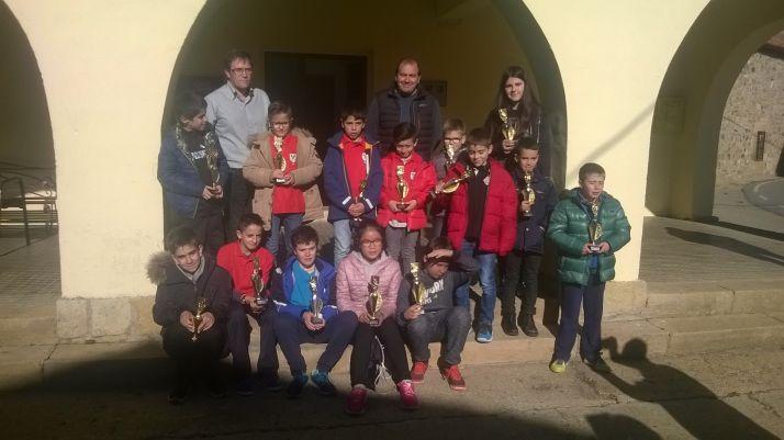 Foto 1 -  Álvaro Delgado, el mejor del torneo de ajedrez de Almajano