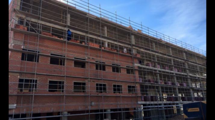 La construcción de viviendas se anima.