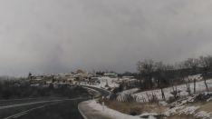 Imagen de la nieve en Abejar este viernes.