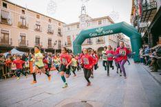 Prueba de niños disputadas en la Carrera de Navidad de San Esteban de Gormaz.