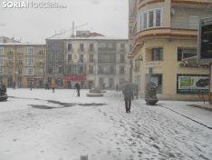 Nieve 2017 en Soria capital. Soria Noticias