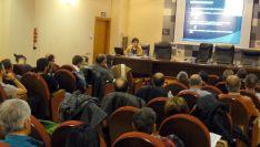 Imagen del salón de actos de la sede de la Diputación.