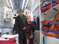 Foto 3 - Caja Rural de Soria patrocina la nueva ambulancia de Cruz Roja