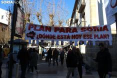La plataforma Soria ¡Ya! felicitó las fiestas de Navidad en la Herradores.