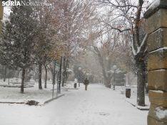 Nevada durante la jornada del viernes 1 de diciembre en Soria.