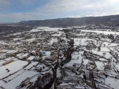 Imagen aérea de Valdeavellano de Tera. /DLC