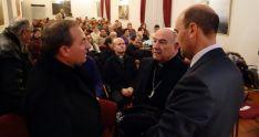Martínez Varea (izda.), Jiménez y Alonso en la presentación. /DOS