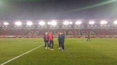 Los jugadores andaluces en Los Pajaritos. @CanteraSFC