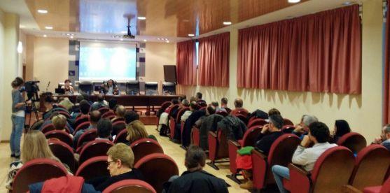 Una imagen del salón de actos de la sede de la Diputación esta tarde de martes.