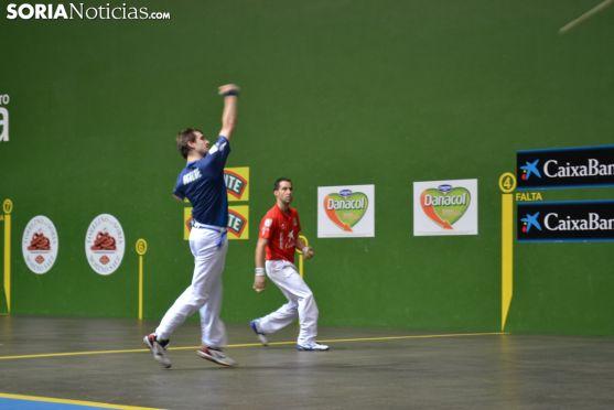 Partido de pelota mano en La Juentud (Soria).