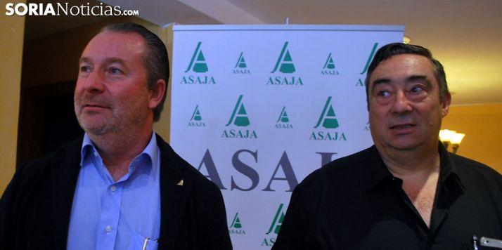 Donaciano Dujo y Carmelo Gómez, de ASAJA de CyL y de Soria./SN