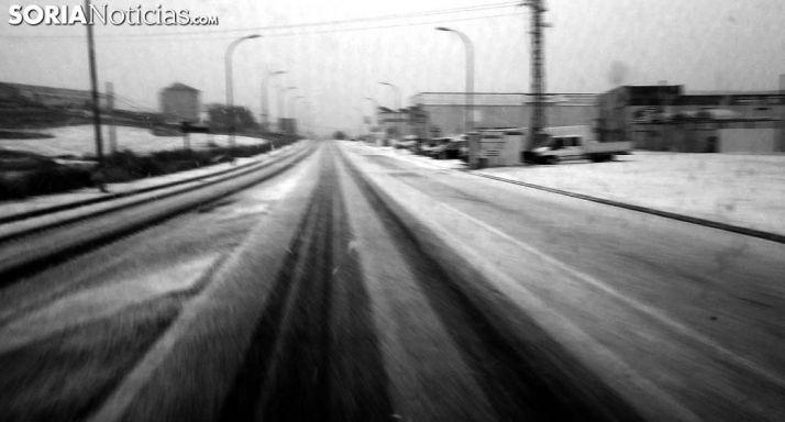 Viento y nevadas en la provincia al final de mañana martes