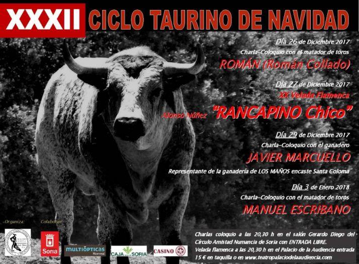 Cartel XXXII Ciclo Taurino de Navidad.
