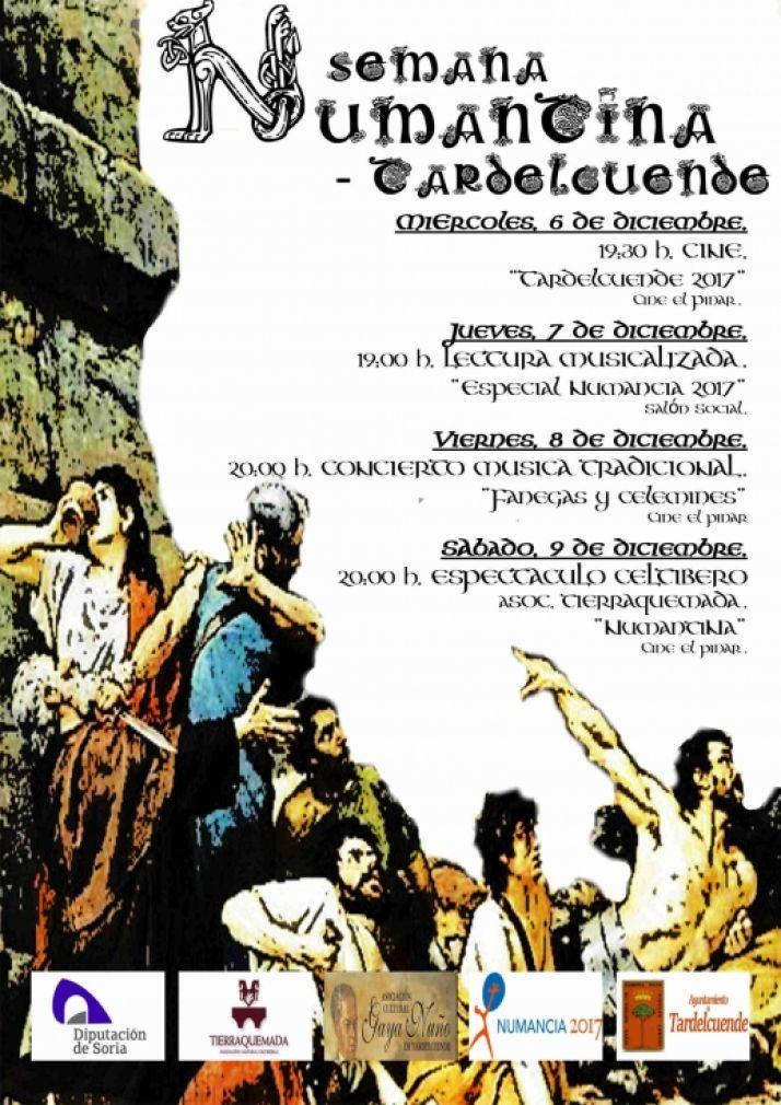 Programa de las actividades Numancia 2017 en Tardelcuende