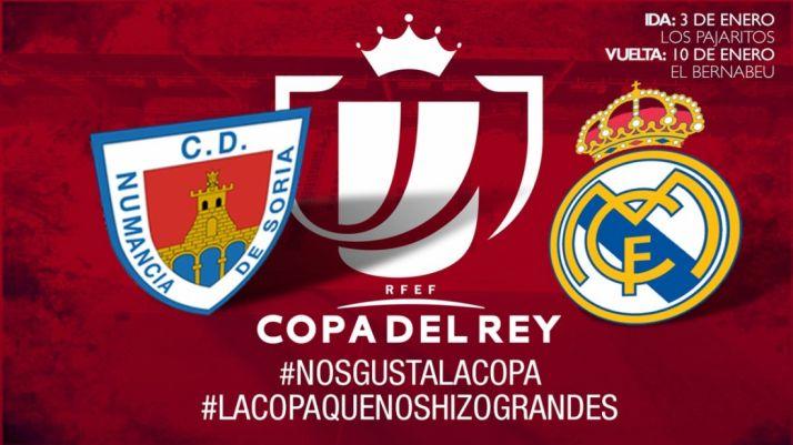 Numancia-Real Madrid, 4 de enero a las 21:00 horas.