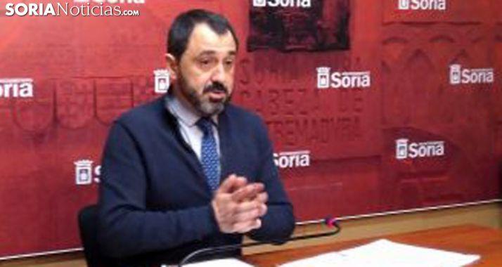 El concejal Javier Muñoz, este viernes en rueda informativa. /SN